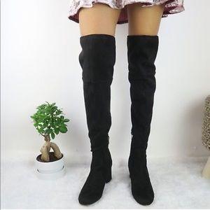 ceba1fd2ffd Sam Edelman Shoes - Sam Edelman Black Suede Varona OTK Boots 10M